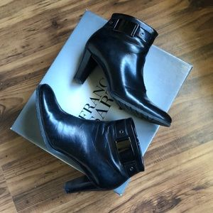 Franco Sarto Black Petrol Fairbank Booties